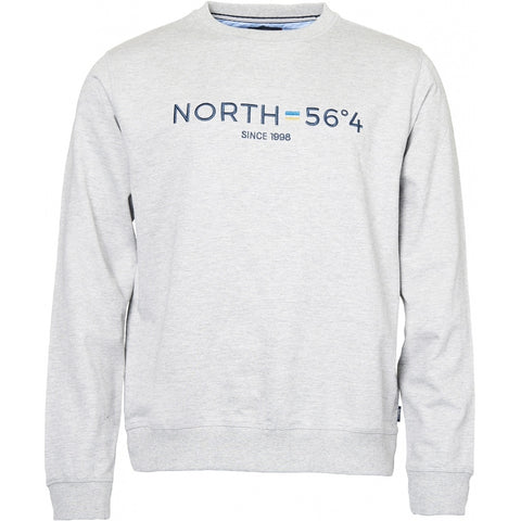 North 56°4 / Replika Jeans (Big & Tall) North 56°4 Sweatshirt w/embroidery Sweatshirt 0050 Grey Melange