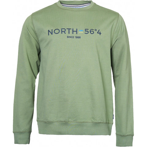 North 56°4 / Replika Jeans (Big & Tall) North 56°4 Sweatshirt w/embroidery Sweatshirt 0660 Olive Green