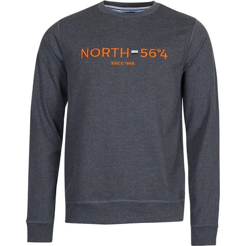 North 56°4 / Replika Jeans (Big & Tall) North 56°4 Sweatshirt w/embroidery Sweatshirt 0090 Dark Grey Melange