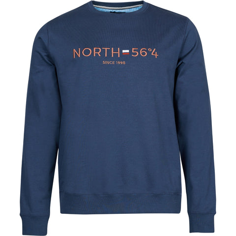 North 56°4 / Replika Jeans (Big & Tall) North 56°4 Sweatshirt w/embroidery Sweatshirt 0580 Navy Blue
