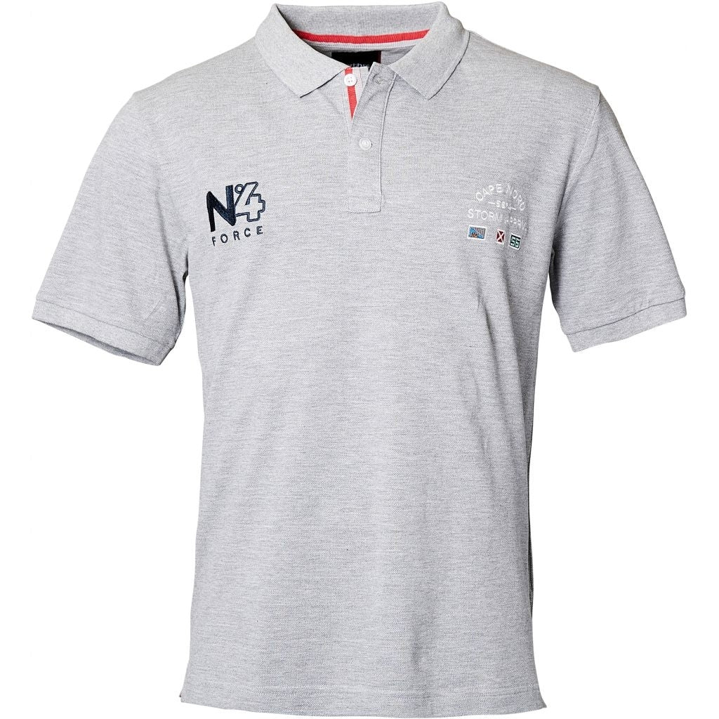 North 56°4 / Replika Jeans (Big & Tall) North 56°4 Polo w/embroidery TALL Polo SS 0050 Grey Melange