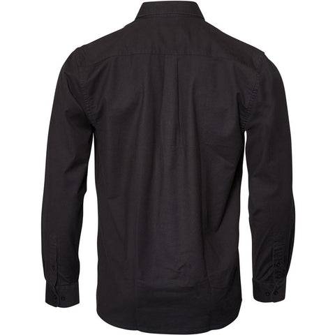 North 56°4 / Replika Jeans (Big & Tall) North 56°4 Oxford shirt w/stretch Shirt LS 0099 Black