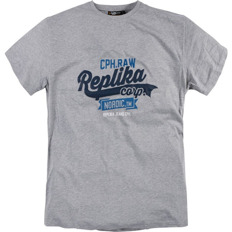 North 56°4 / Replika Jeans (Big & Tall) REPLIKA JEANS CPH Printed T-shirt T-shirt 0050 Grey Melange