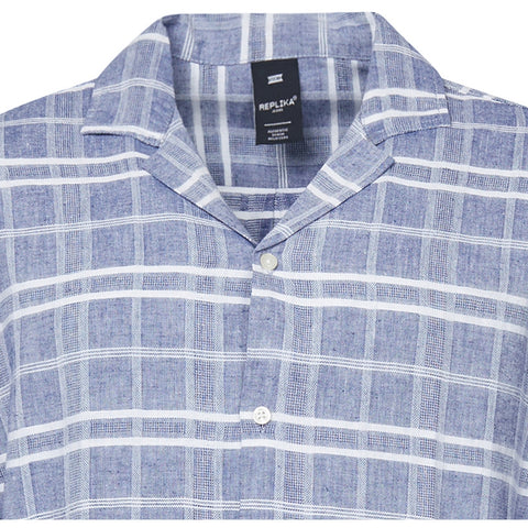 North 56°4 / Replika Jeans (Big & Tall) REPLIKA JEANS Checked linen shirt Shirt SS 0920 Checked