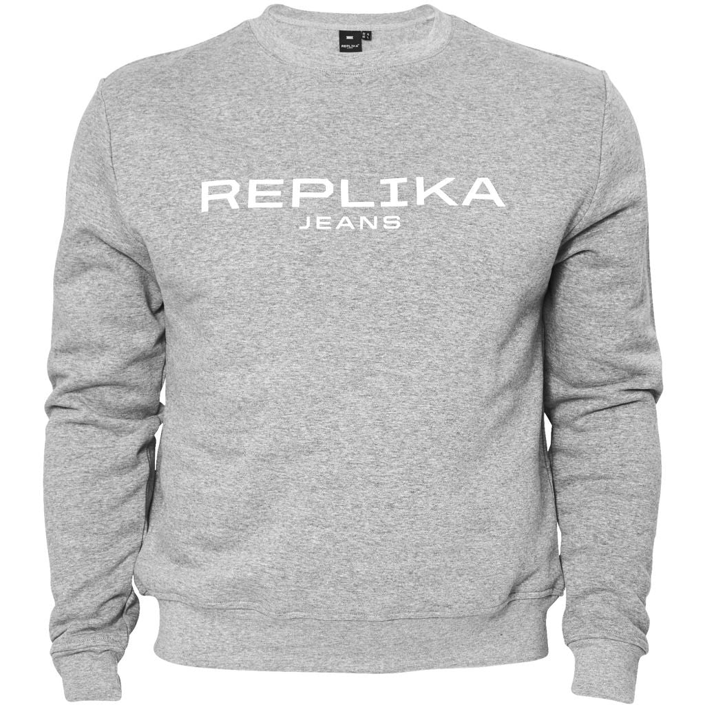 North 56°4 / Replika Jeans (Big & Tall) REPLIKA JEANS Crew-neck Sweat TALL Sweatshirt 0050 Grey Melange
