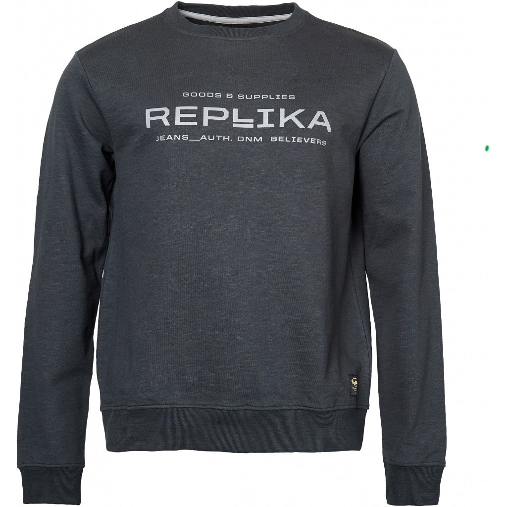 North 56°4 / Replika Jeans (Big & Tall) REPLIKA JEANS Crew neck sweatshirt Sweatshirt 0099 Black