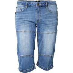 North 56°4 / Replika Jeans (Big & Tall) REPLIKA JEANS Denim capri Shorts 0597 Blue Used Wash
