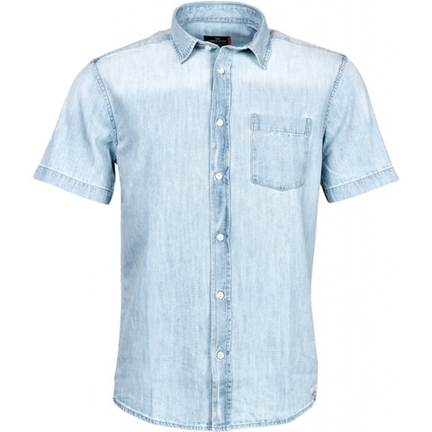 North 56°4 / Replika Jeans (Big & Tall) REPLIKA JEANS Denim shirt S3 Shirt SS 0599 Light Blue Used Wash