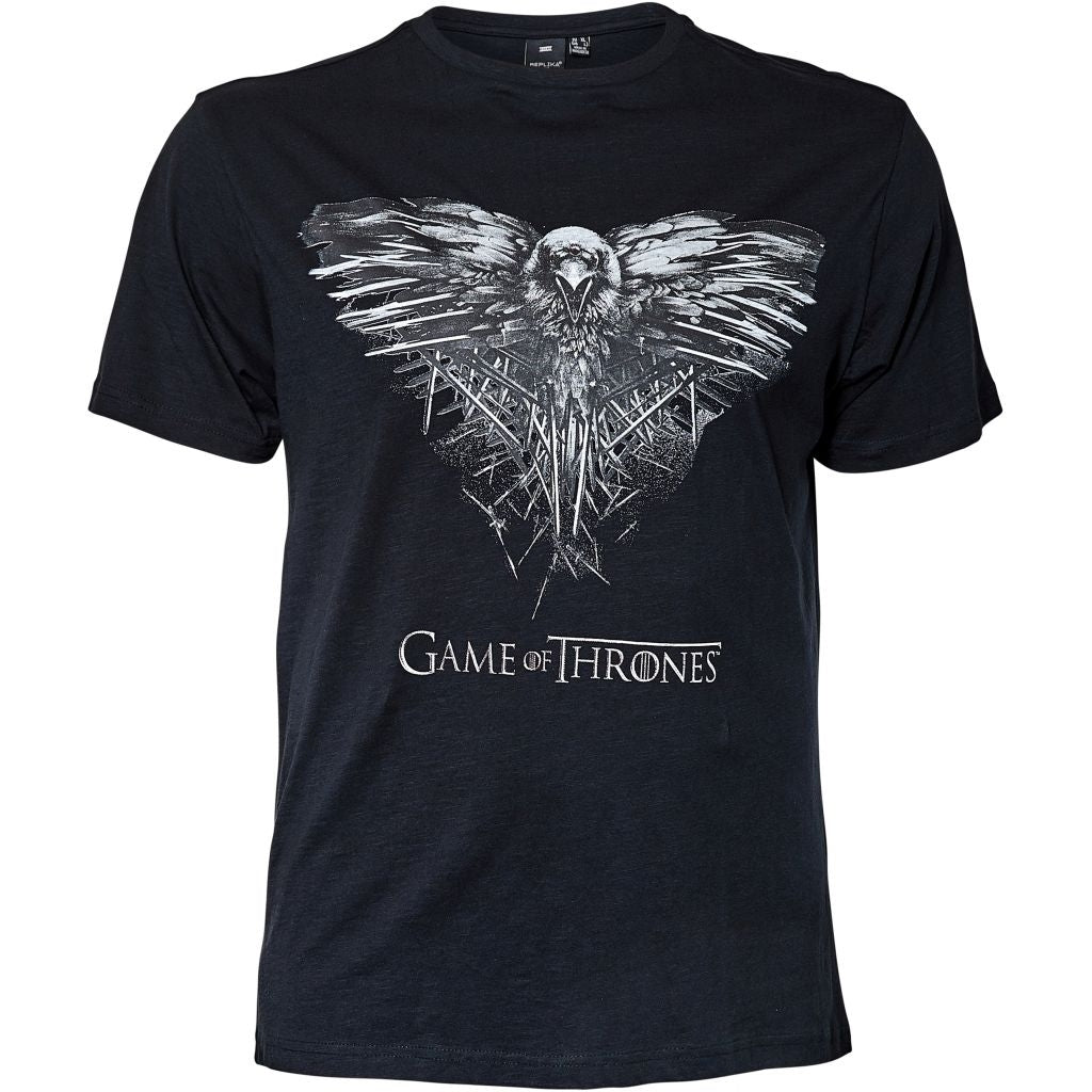 North 56°4 / Replika Jeans (Big & Tall) REPLIKA JEANS Game of Thrones Tee T-shirt 0099 Black