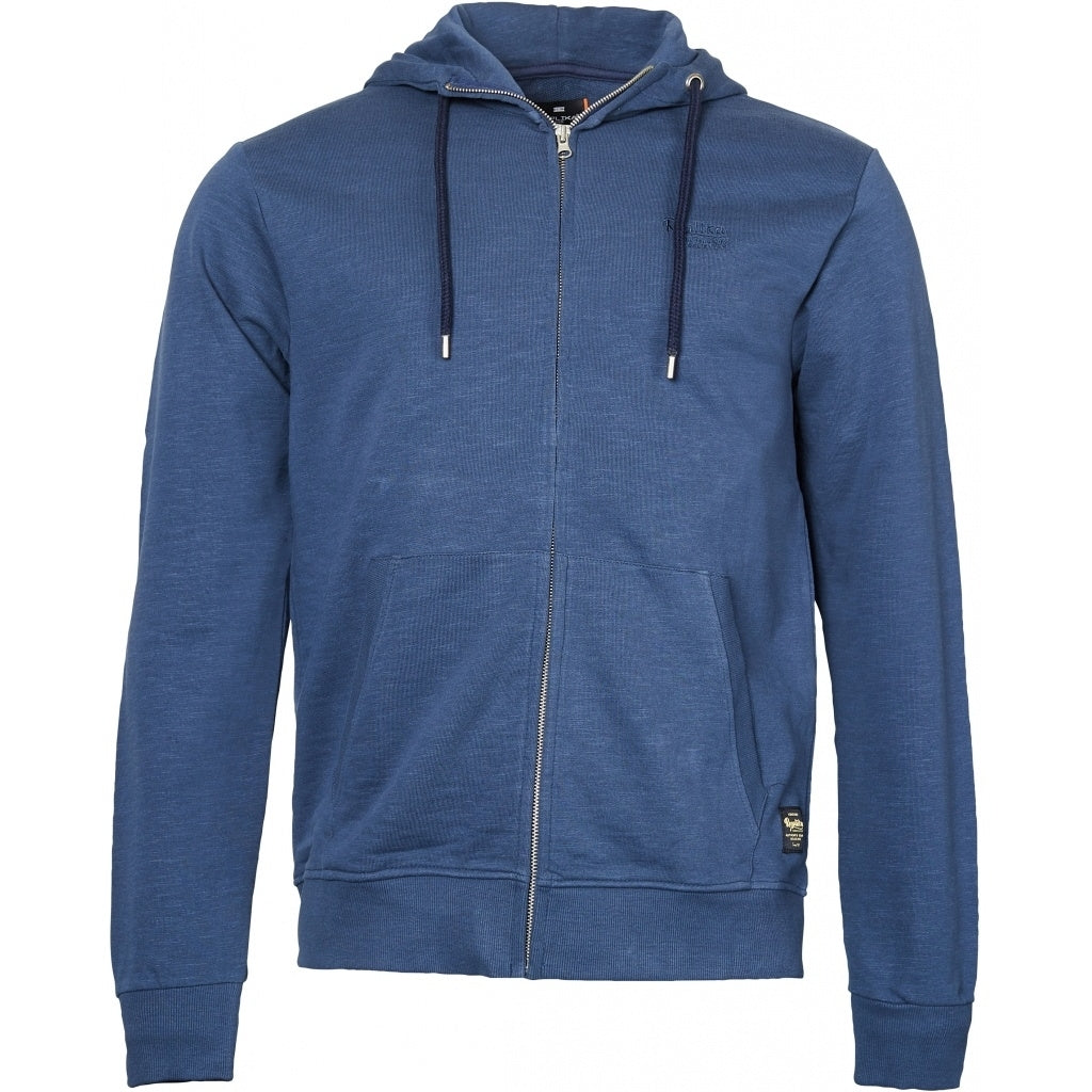 North 56°4 / Replika Jeans (Big & Tall) REPLIKA JEANS Hooded full zip sweatshirt TALL Sweatshirt 0580 Navy Blue