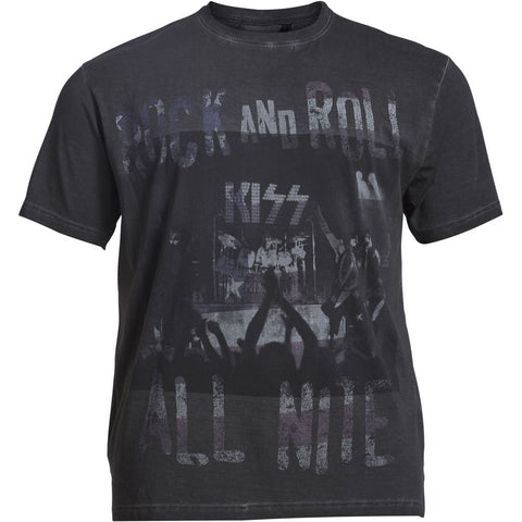 ALLSIZE REPLIKA JEANS Kiss t-shirt T-shirt 0099 Black