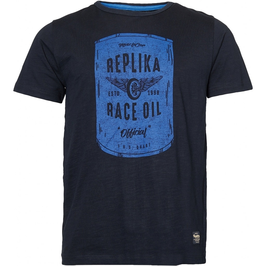 North 56°4 / Replika Jeans (Big & Tall) REPLIKA JEANS Printed t-shirt T-shirt 0099 Black