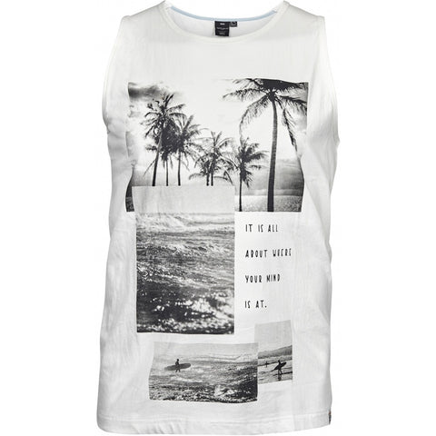 North 56°4 / Replika Jeans (Big & Tall) REPLIKA JEANS Printed tank top Tank 0001 Off White