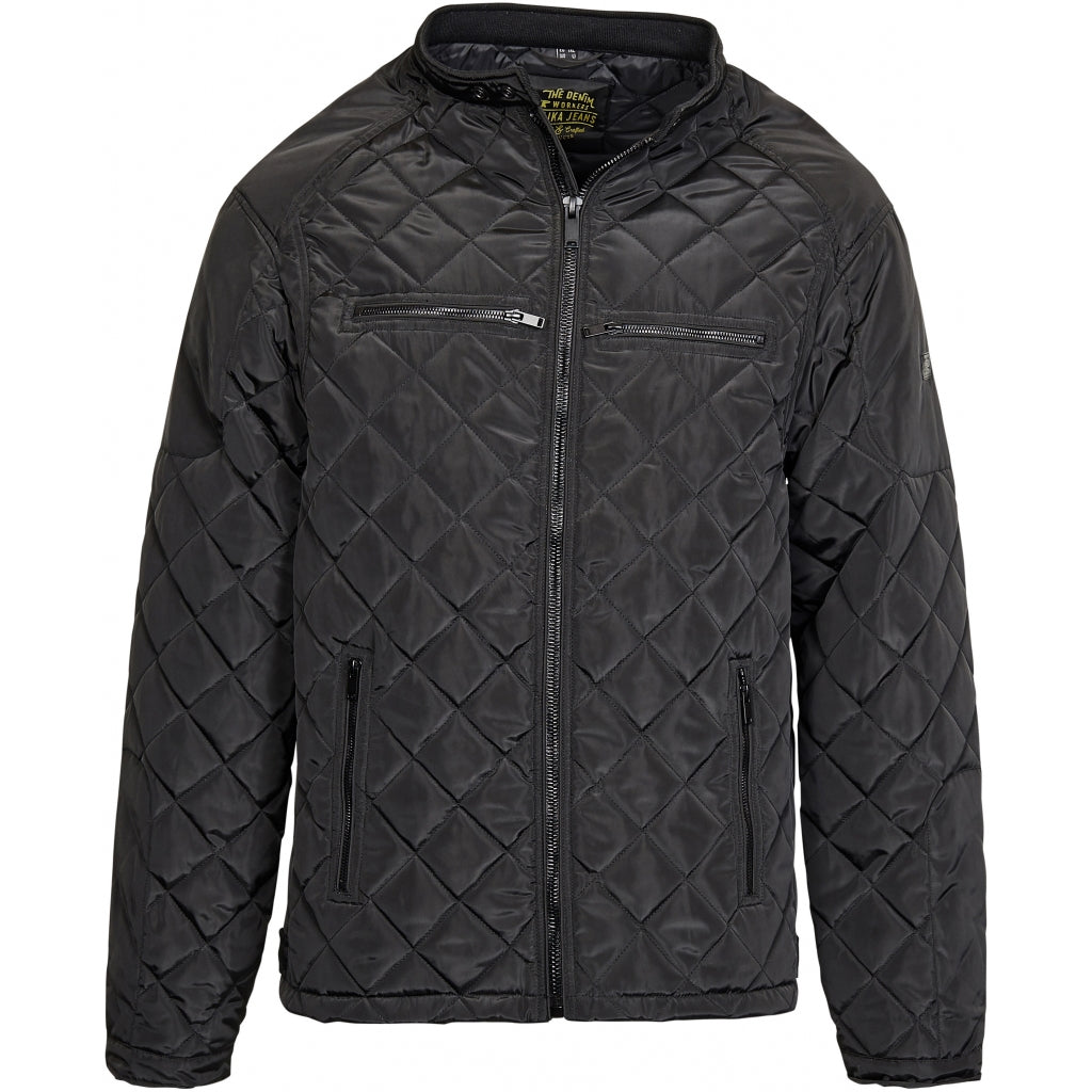 North 56°4 / Replika Jeans (Big & Tall) REPLIKA JEANS Quilted jacket Jacket 0099 Black