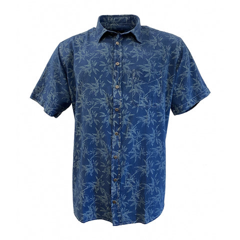 North 56°4 / Replika Jeans (Big & Tall) REPLIKA JEANS Shirt normal collar and chest pocket Shirt SS 0930 Printed