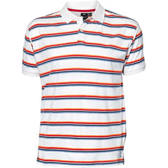 North 56°4 / Replika Jeans (Big & Tall) REPLIKA JEANS Striped polo S/S Polo SS 0000 White