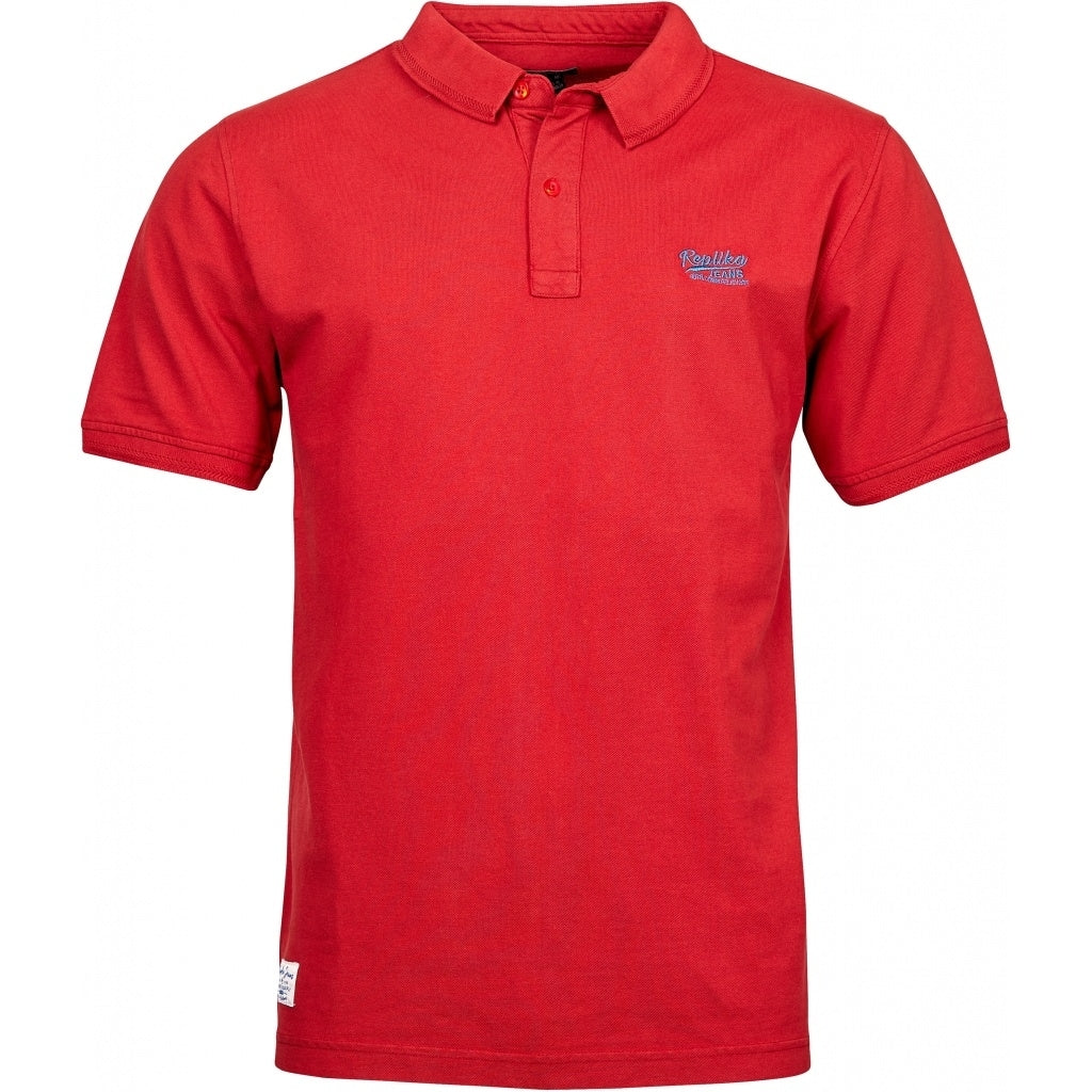 North 56°4 / Replika Jeans (Big & Tall) REPLIKA JEANS Polo w/contrast color emb Polo SS 0300 Red