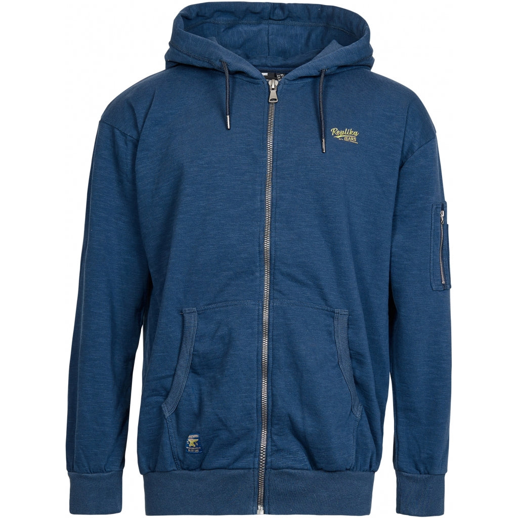 North 56°4 / Replika Jeans (Big & Tall) REPLIKA JEANS Full zip sweat w/hood Sweatshirt 0580 Navy Blue