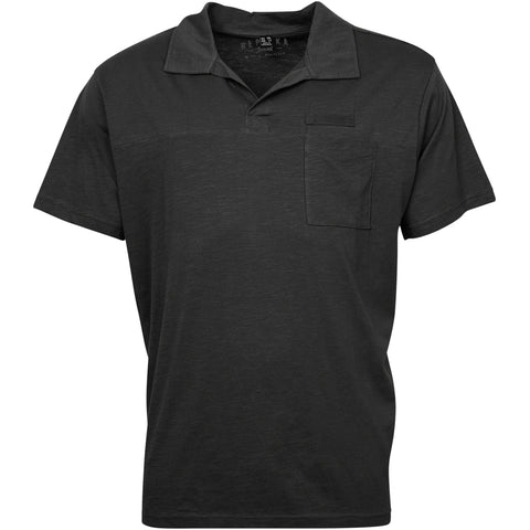 North 56°4 / Replika Jeans (Big & Tall) REPLIKA JEANS Polo w/v-neck Polo SS 0099 Black