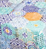 table cloth world tile allover plastic