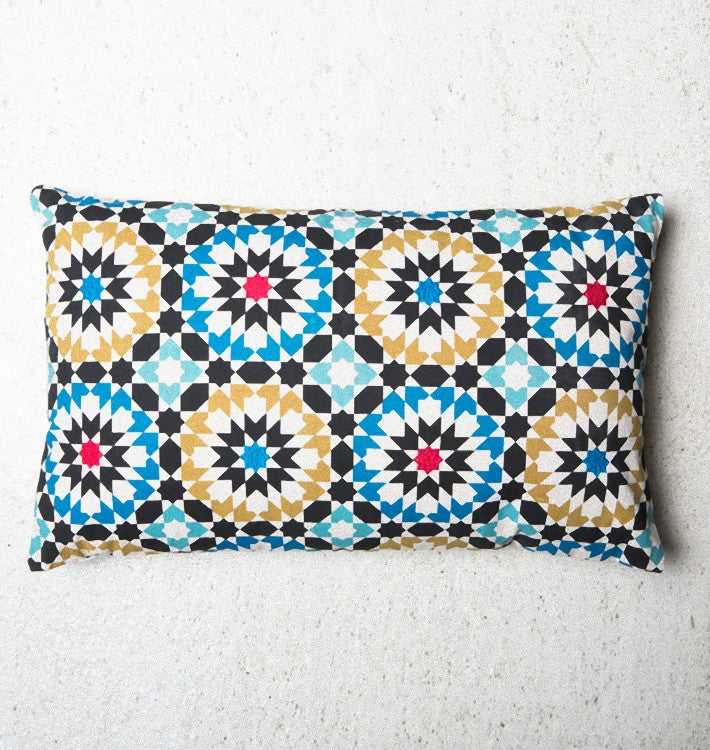 cushion mozaik embroidered cotton pillow