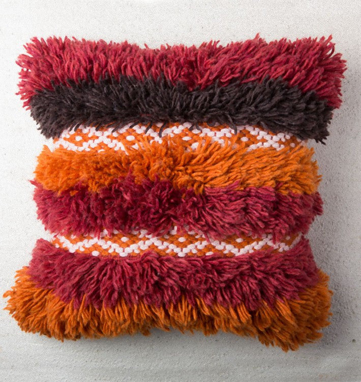 cushion tribal folklore wool pillow