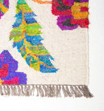 carpet folkloric recycled wool silk