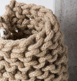 tribal crochet vase large cotton jute