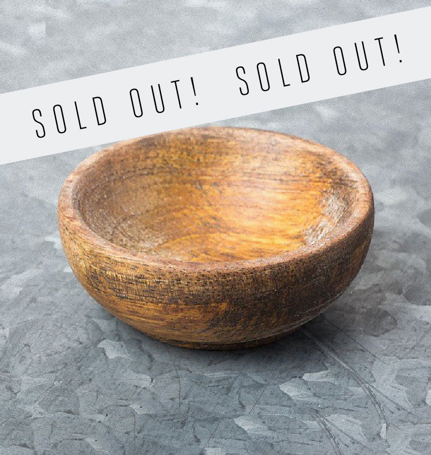 wooden pinch bowl mango wood