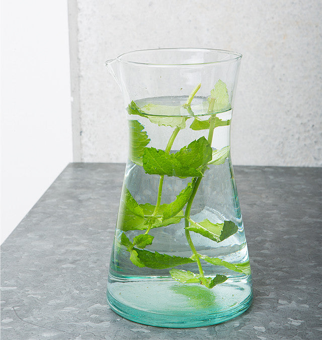 Recycled Handmade Glass - Carafe (900 ml) - Urban Nature Culture