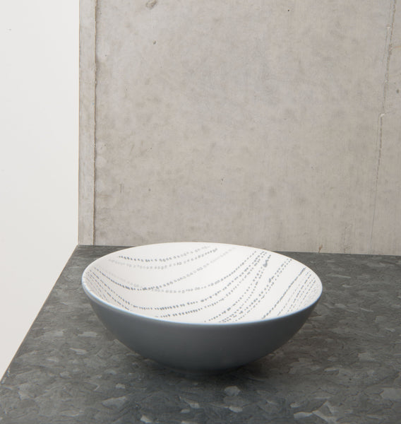 bowl ruka dot stripe porcelain