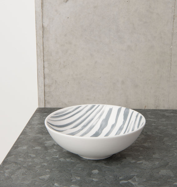 bowl ruka irregular stripe porcelain
