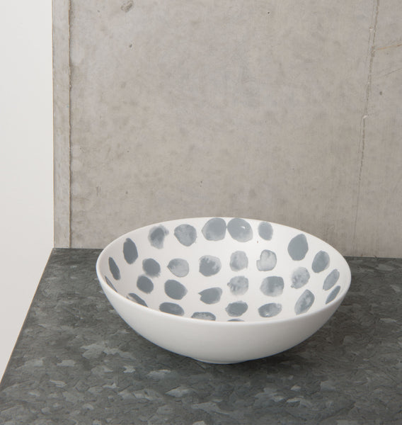 bowl ruka irregular dots porcelain