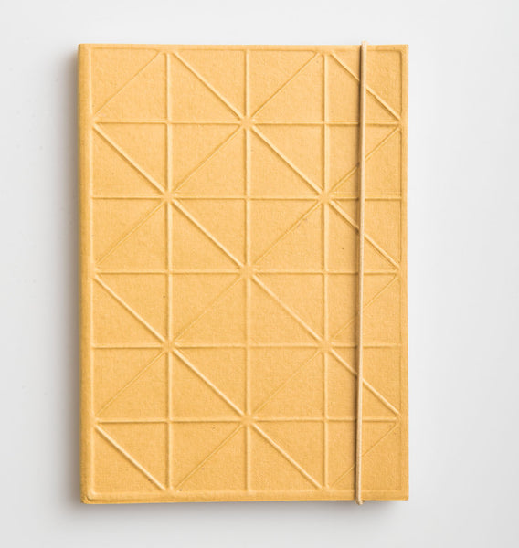 notebook gold 3D recycled cotton paper
