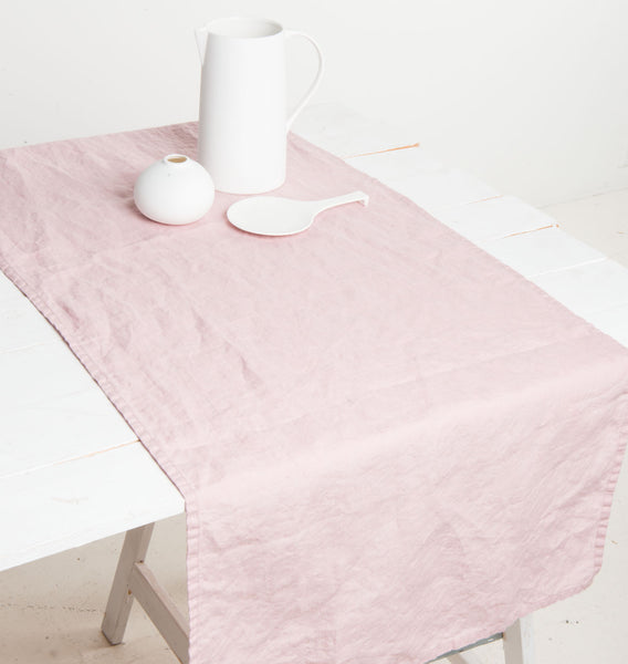 Tablerunner Linen - Old Pink - Urban Nature Culture