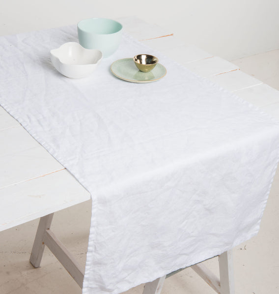 Tablerunner Linen - White - Urban Nature Culture