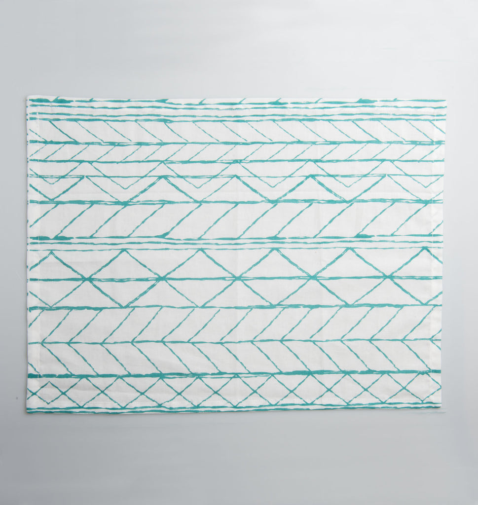placemat midgreen cotton