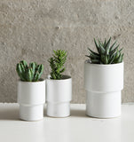 Planter Matt White - M incl. paper cross - Urban Nature Culture
