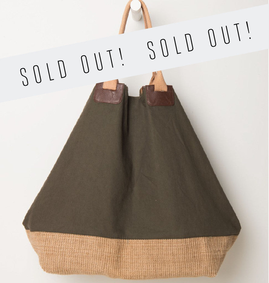 shopper bag xl jute canvas