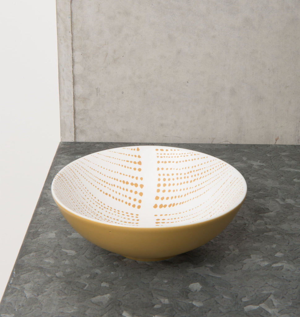 bowl ruka stripes saffran porcelain