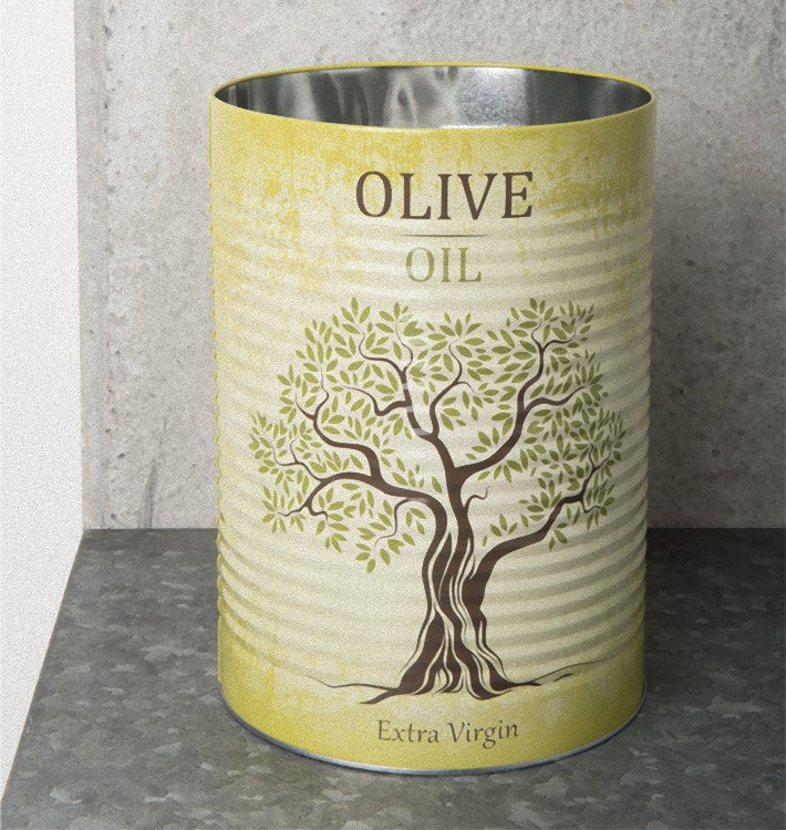 storage canister tin olive oil