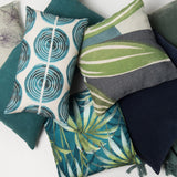 Cushion - funky music colonial blue - Urban Nature Culture