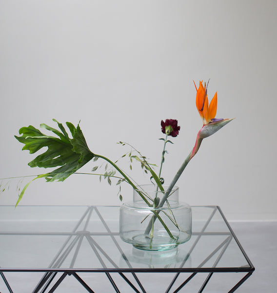 Vase - Recycled glass transparant