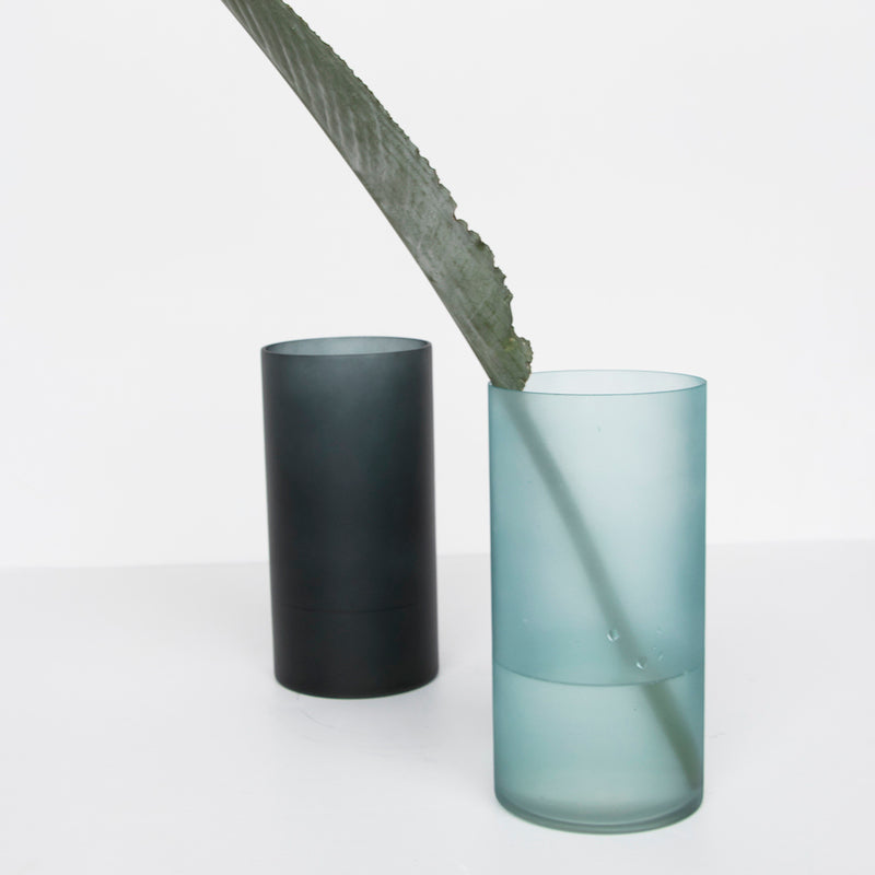 Vase recycled glass matt - Silver pine - Urban Nature Culture