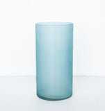 Vase recycled glass matt - Silver pine