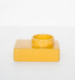 Wax light holder stone - Yolk Yellow