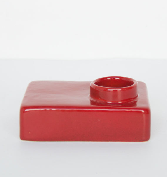 Wax light holder stone - Red ochre