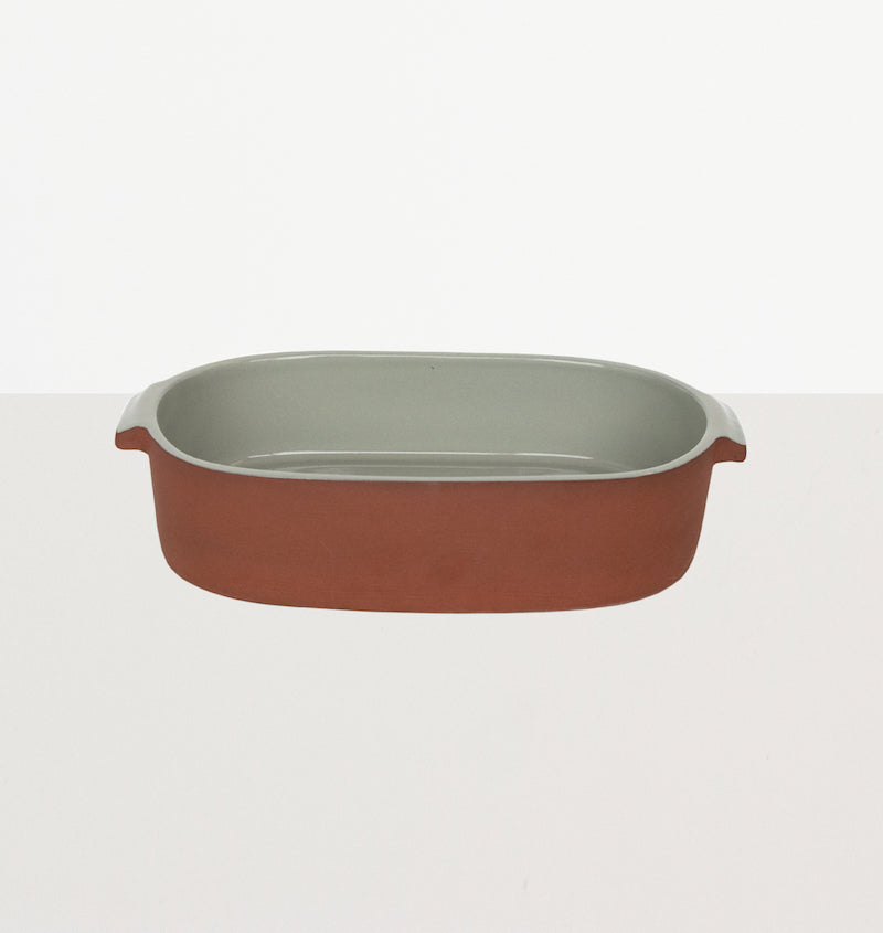 Serving/ovendish terracotta oval sea foam - Urban Nature Culture