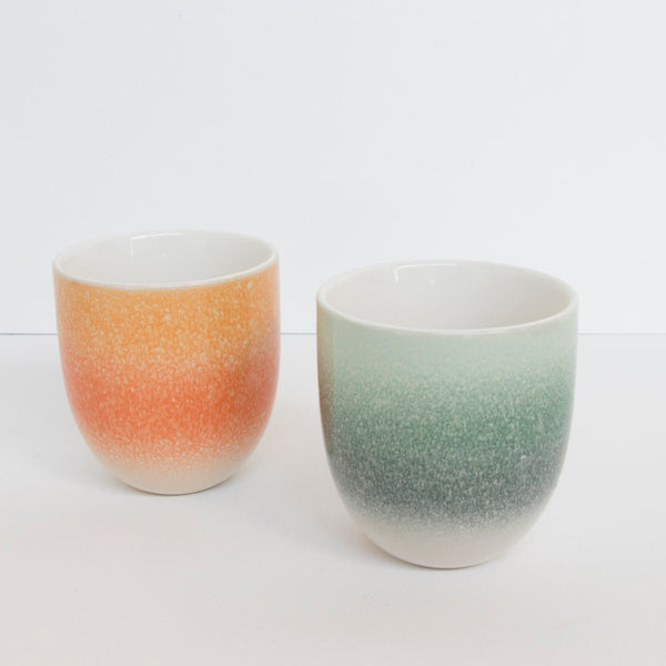 Mug reactive glaze Orange foam - Urban Nature Culture