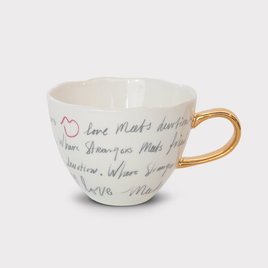 Good morning cup - Where love meets, in gift sleeve - Urban Nature Culture